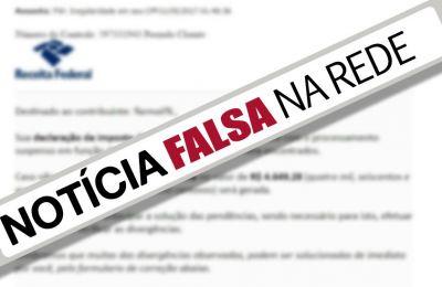 E-mail da Receita Federal sobre multa por divergências